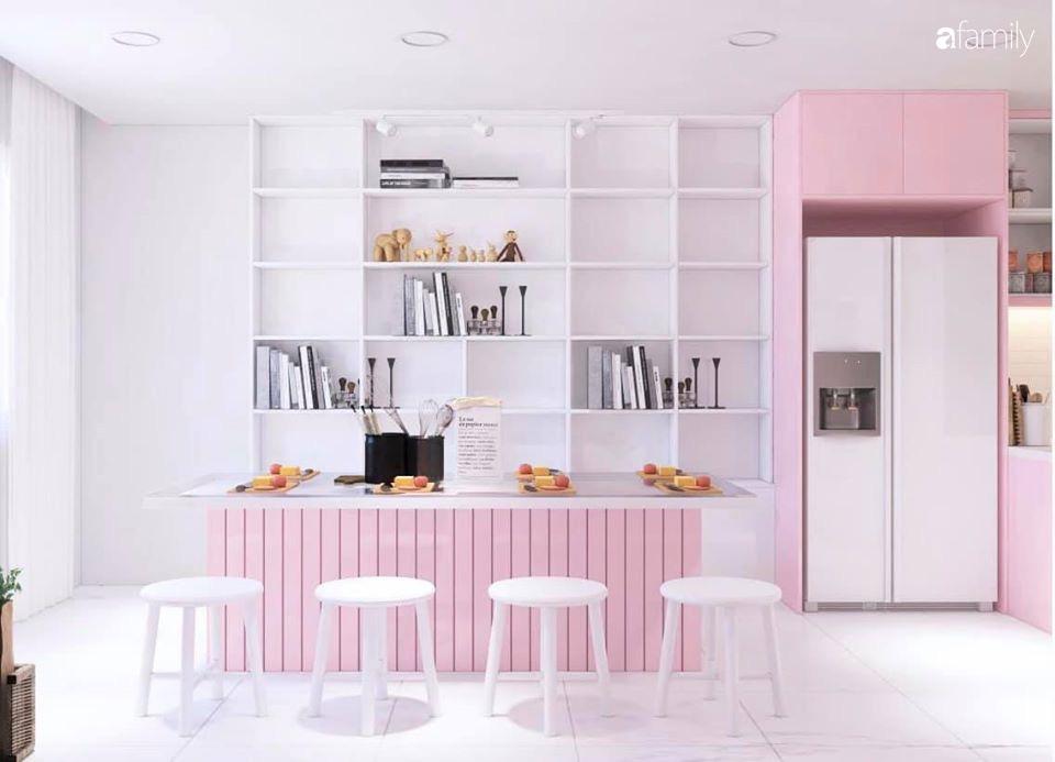 """Căn bếp màu hồng ngọt ngào đẹp """"rụng tim"""" của cô nàng dành tất cả niềm đam mê cho việc làm bánh ở Sài Gòn - Ảnh 3."""
