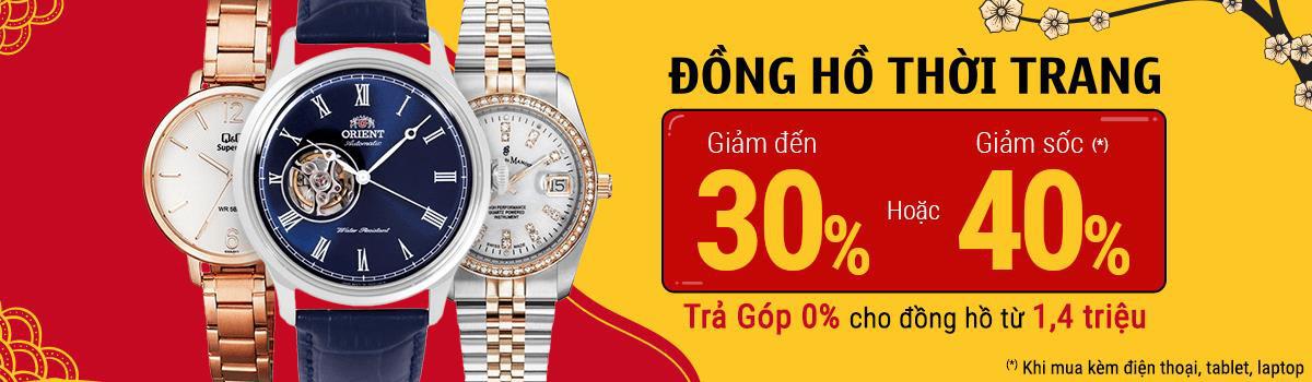 Sắm đồng hồ sang ưu đãi ngập tràn dịp Tết, giảm đến 40% tại Thế Giới Di Động - Ảnh 1.
