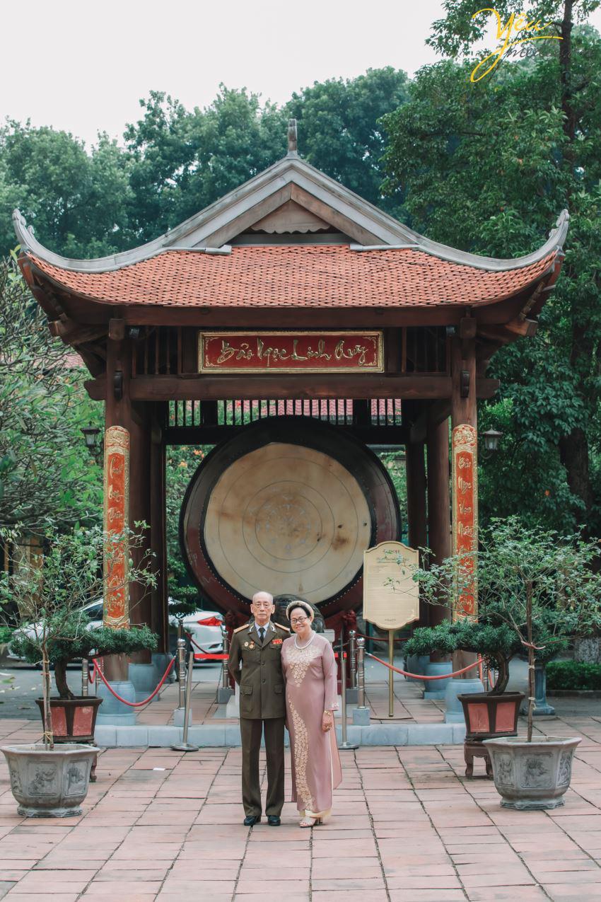 Bộ ảnh chụp kỉ niệm 60 năm ngày cưới siêu lãng mạn tại Hà Nội - Ảnh 8.