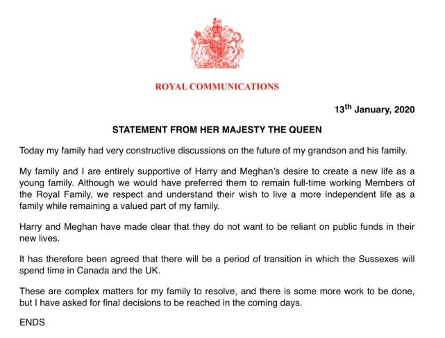 Nữ hoàng Anh ra thông báo chính thức quyết định số phận của vợ chồng Meghan Markle trong hoàng gia khiến nhiều người thất vọng - Ảnh 2.