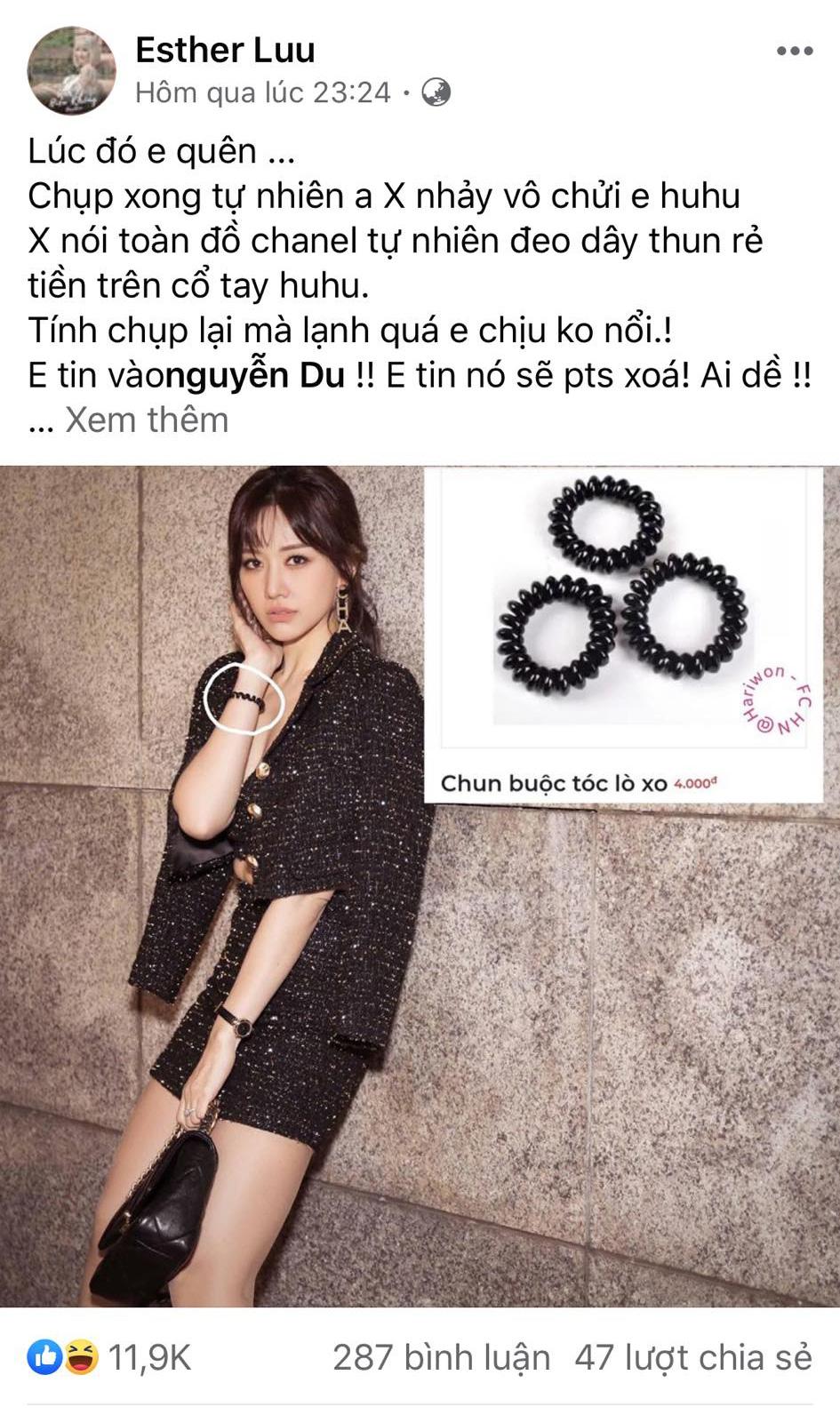 """Hari Won bị chồng """"mắng"""" tới tấp vì cái tội đầu óc để đâu mà diện nguyên cây Chanel vài trăm triệu mà lại đeo phụ kiện 4 ngàn - Ảnh 4."""