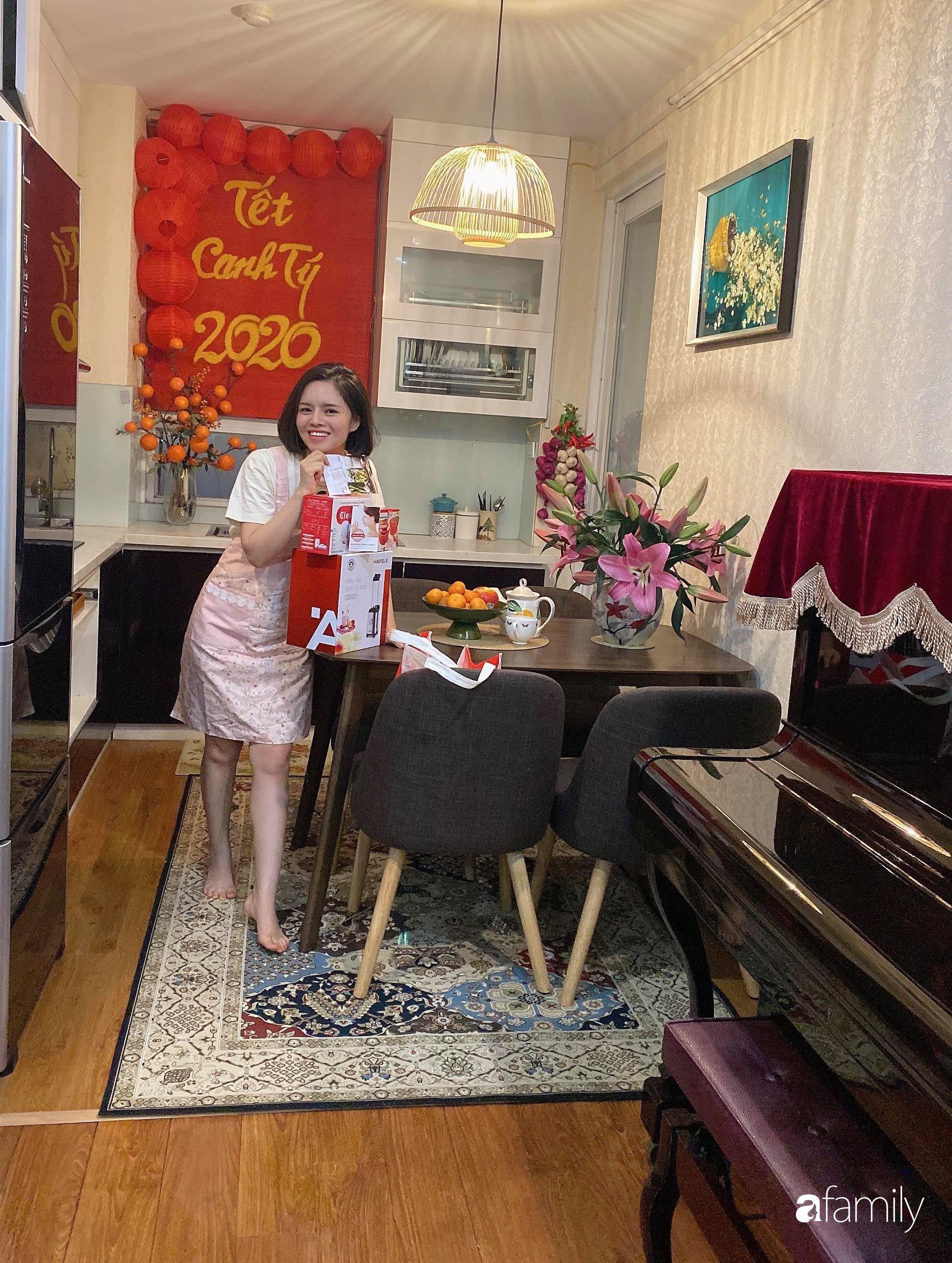 Căn hộ được điểm xuyết vẻ đẹp của ngày Tết truyền thống nhờ bàn tay khéo léo của mẹ trẻ xinh đẹp ở Long Biên, Hà Nội - Ảnh 2.