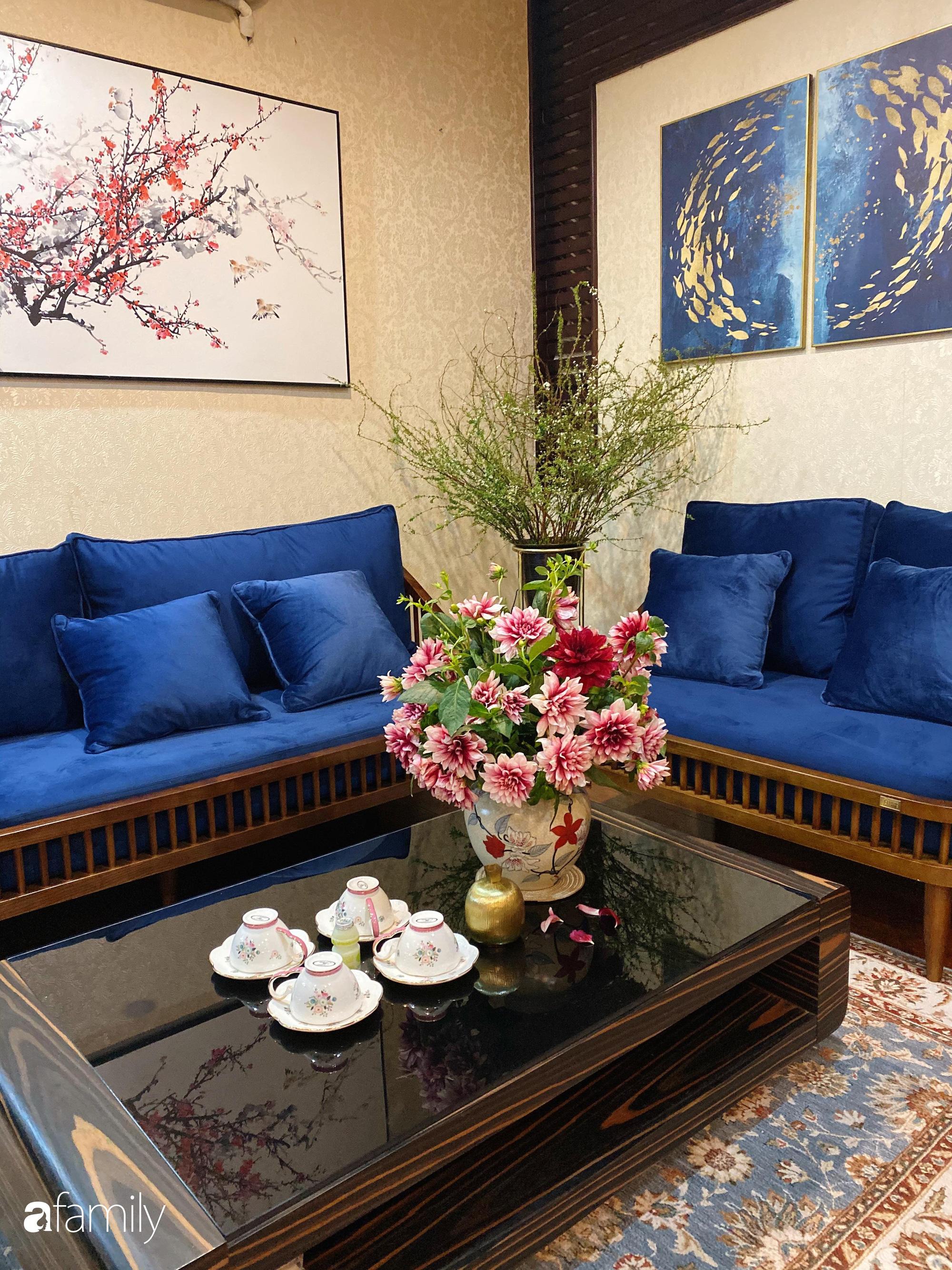 Căn hộ được điểm xuyết vẻ đẹp của ngày Tết truyền thống nhờ bàn tay khéo léo của mẹ trẻ xinh đẹp ở Long Biên, Hà Nội - Ảnh 6.