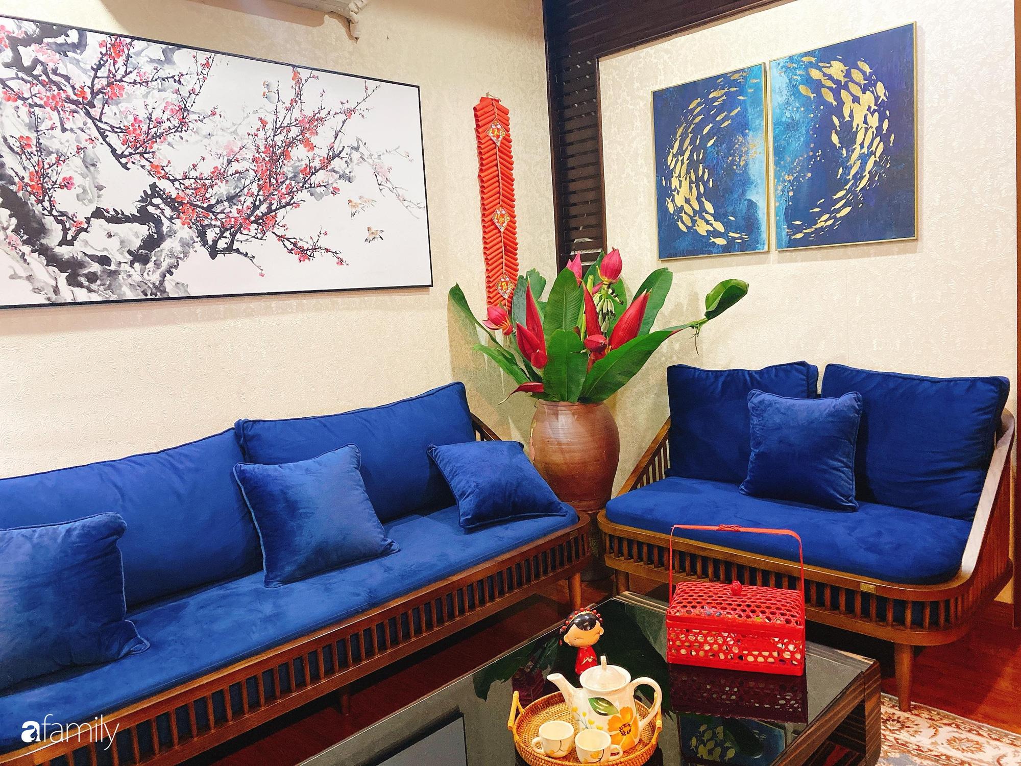 Căn hộ được điểm xuyết vẻ đẹp của ngày Tết truyền thống nhờ bàn tay khéo léo của mẹ trẻ xinh đẹp ở Long Biên, Hà Nội - Ảnh 5.