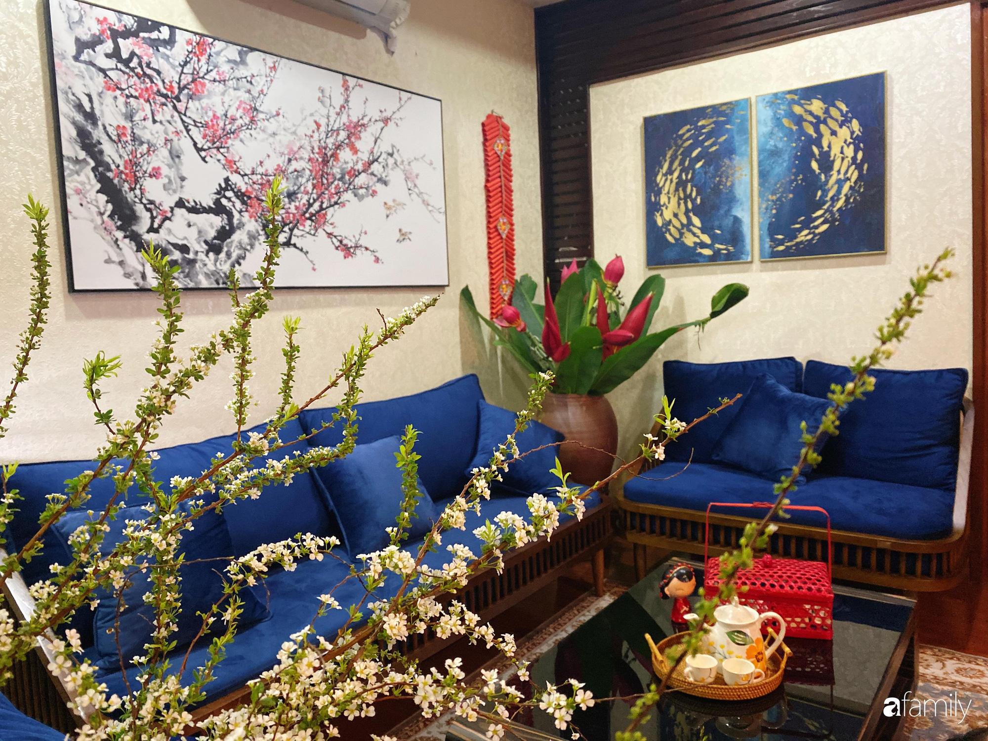 Căn hộ được điểm xuyết vẻ đẹp của ngày Tết truyền thống nhờ bàn tay khéo léo của mẹ trẻ xinh đẹp ở Long Biên, Hà Nội - Ảnh 4.