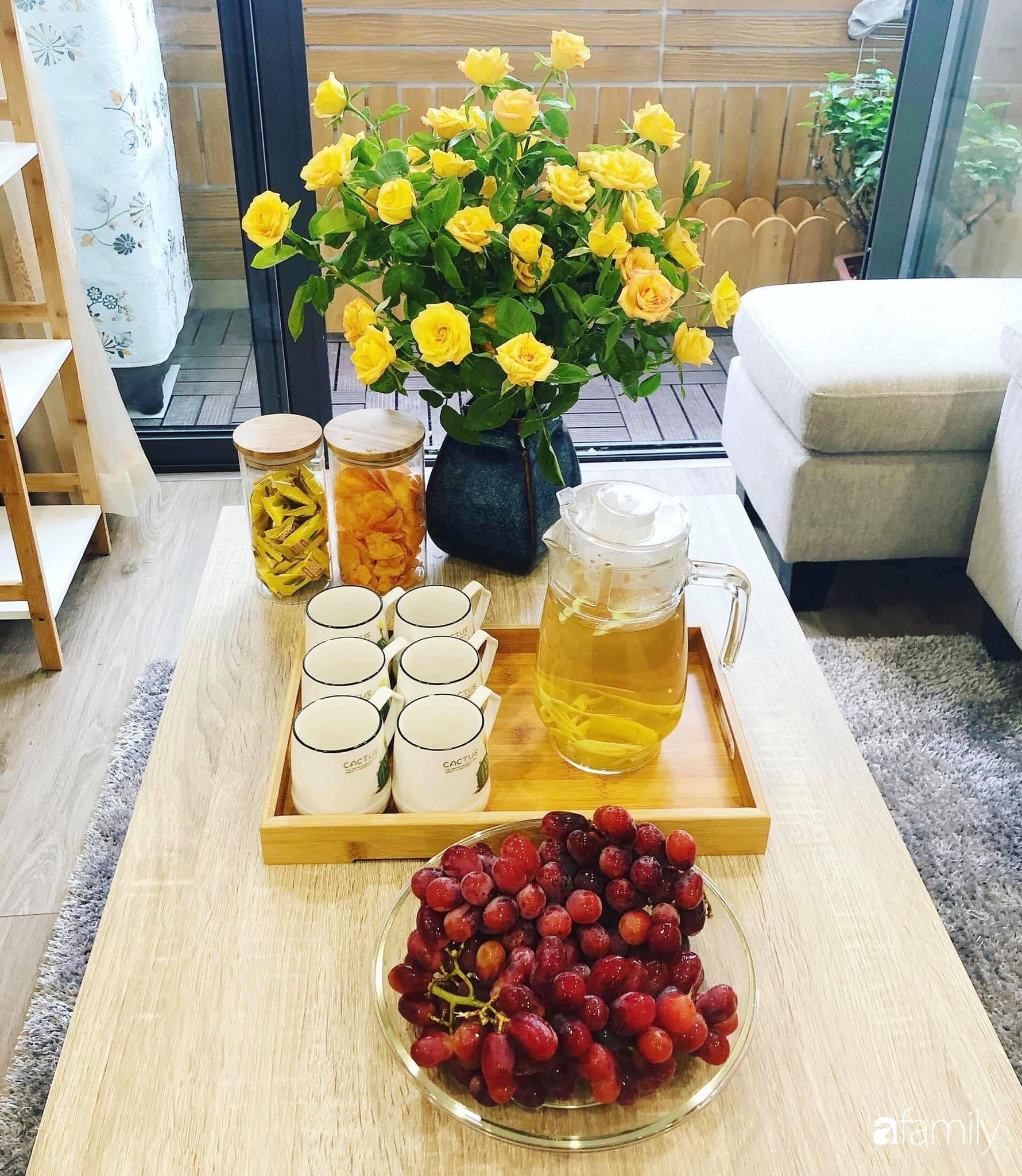 Căn hộ 76,9m2 đầm ấm với sắc hoa dịu dàng đón Tết ở Mỹ Đình, Hà Nội - Ảnh 9.