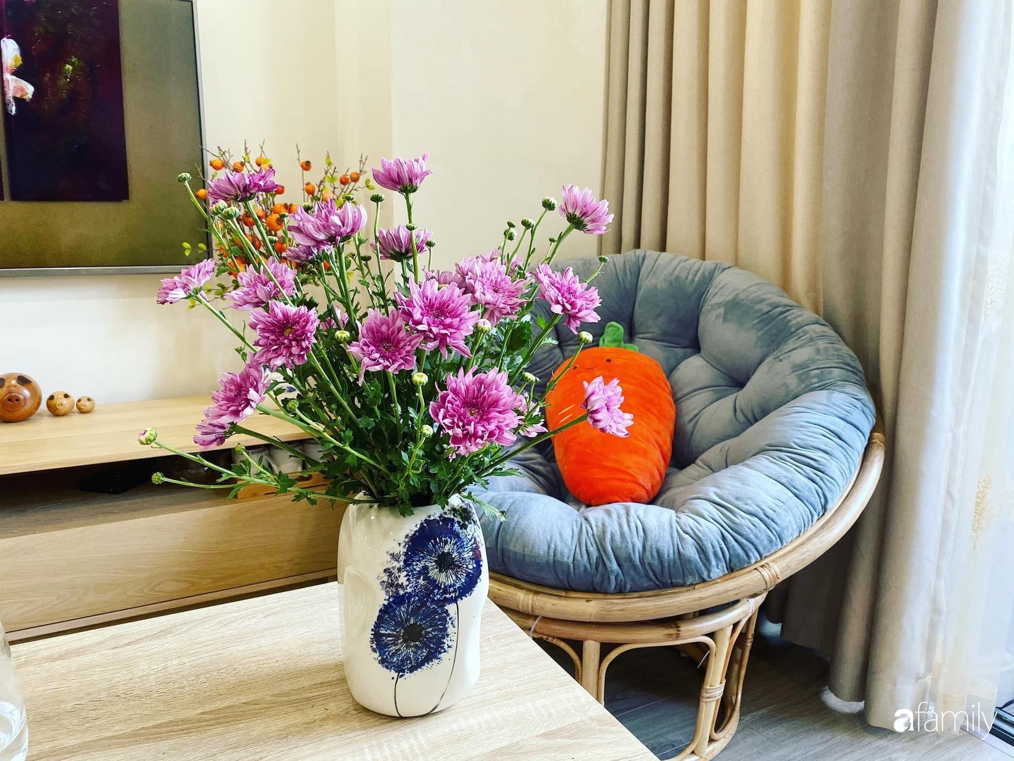 Căn hộ 76,9m2 đầm ấm với sắc hoa dịu dàng đón Tết ở Mỹ Đình, Hà Nội - Ảnh 8.
