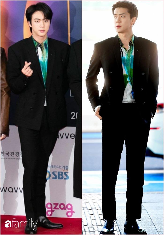 """Hai mỹ nam BTS và EXO """"đại chiến"""" khi diện nguyên cây đồ, netizen nhận định: Người như tổng tài, người chuẩn thiếu gia nhà tài phiệt - Ảnh 4."""