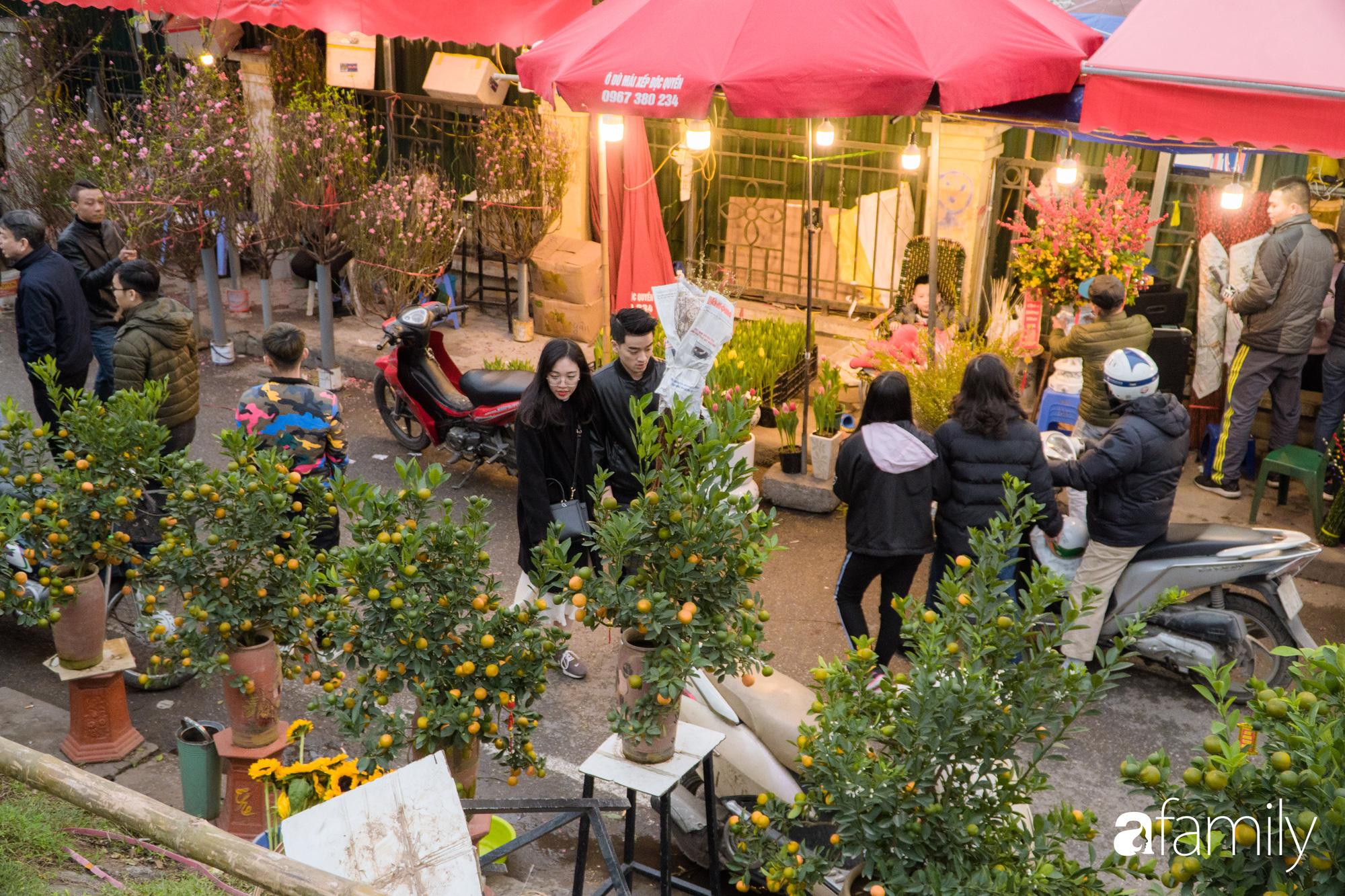 Những khoảnh khắc bình dị ngày cuối năm ở chợ hoa Quảng An, dù lạnh thấu xương nhưng người Hà Nội vẫn nô nức sắm hoa chơi Tết - Ảnh 4.
