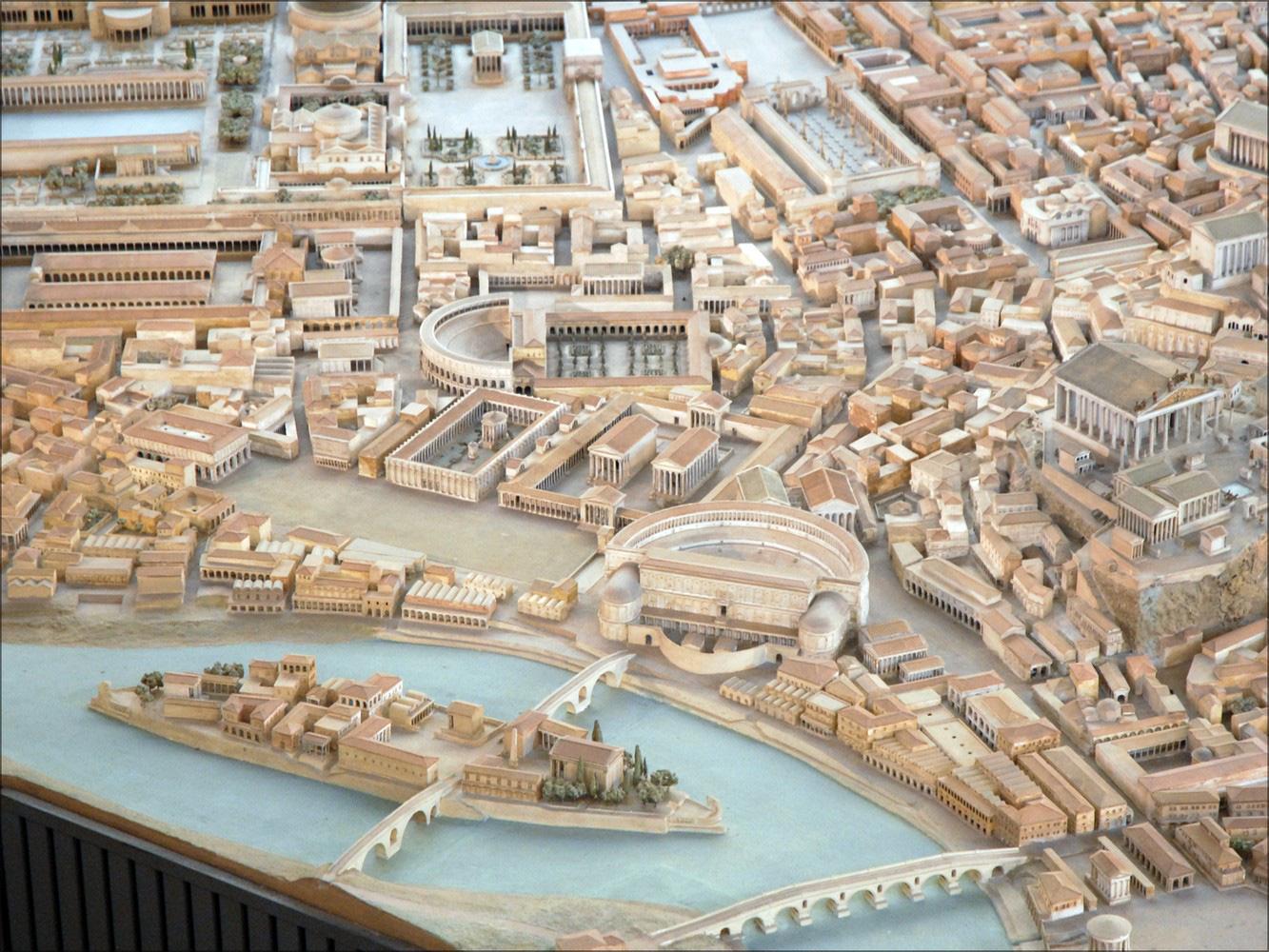 Chiêm ngưỡng mô hình thành Rome cổ đại với tỷ lệ 1:250, mất tới 38 năm mới hoàn thành - Ảnh 2.