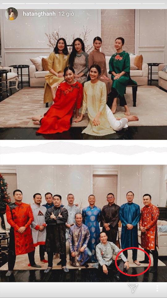 """Đội hình diện áo dài của hội bạn Hà Tăng đang long lanh hoành tráng thì bị lựa chọn lạc quẻ của Louis Nguyễn """"phá bĩnh"""" chút nhẹ - Ảnh 3."""
