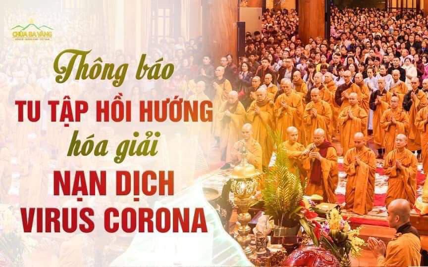 Bất ngờ xuất hiện thông báo chương trình tu tập hồi hướng hoá giải dịch cúm virus Corona của sư thầy Thích Trúc Thái Minh