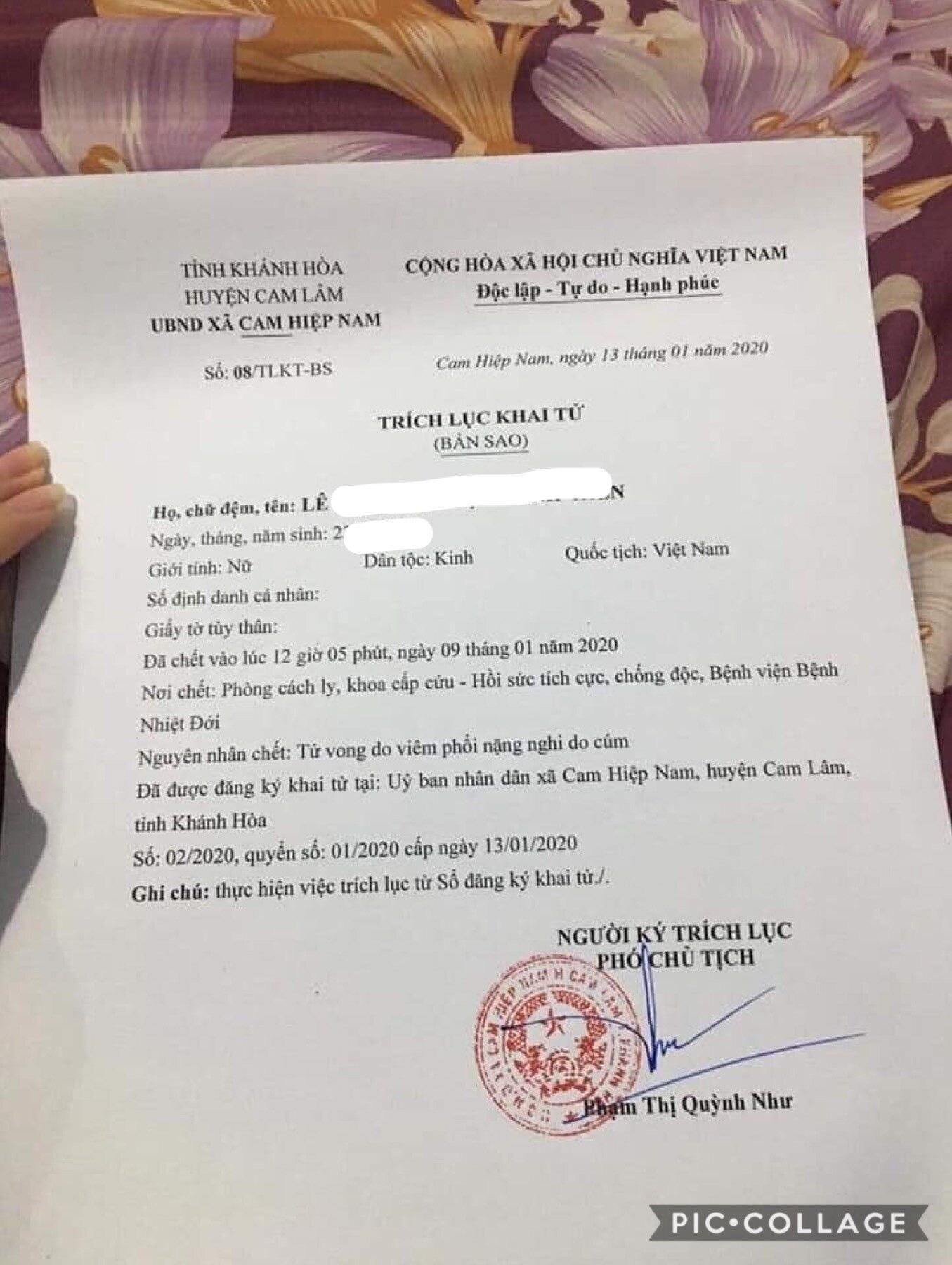 """Thực hư thông tin bé gái 10 tuổi ở Khánh Hòa tử vong do virus nCoV """"Vũ Hán"""" - Ảnh 1."""
