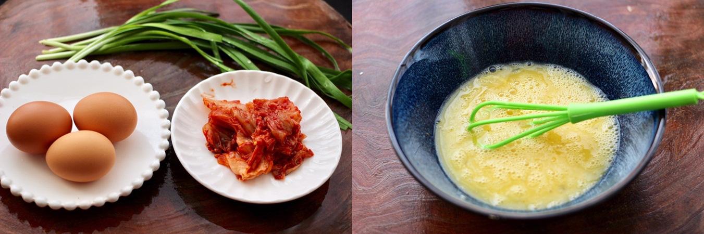 Trứng chiên kim chi lạ miệng ngon cơm cho bữa tối sau Tết - Ảnh 1.