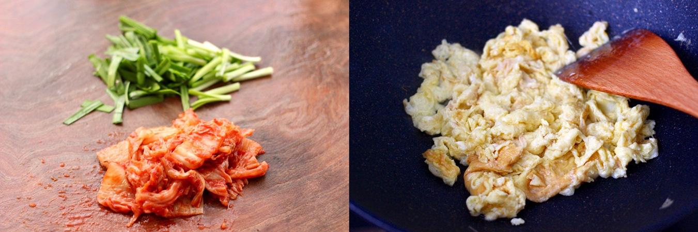 Trứng chiên kim chi lạ miệng ngon cơm cho bữa tối sau Tết - Ảnh 2.