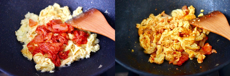 Trứng chiên kim chi lạ miệng ngon cơm cho bữa tối sau Tết - Ảnh 3.