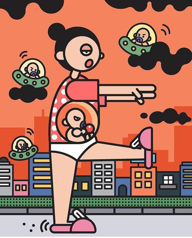 Chia sẻ chân thực về quá trình mang thai và sinh con qua bộ tranh của nữ thiết kế đồ họa Trung Quốc - Ảnh 8.