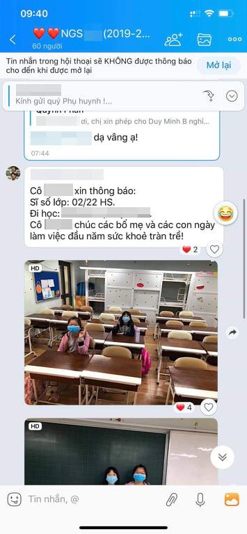 Đăng ảnh cả lớp chỉ có đúng 2 em đi học vì lo sợ Corona, cô giáo Hà Nội khiến dân tình vừa phì cười vừa đồng cảm - Ảnh 2.