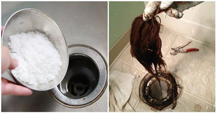 Cống nhà vệ sinh bị tắc do tóc, rác rưởi, chỉ 5 phút đã thông dễ dàng nhờ sử dụng nguyên liệu trong bếp mà nhà ai cũng có - Ảnh 1.