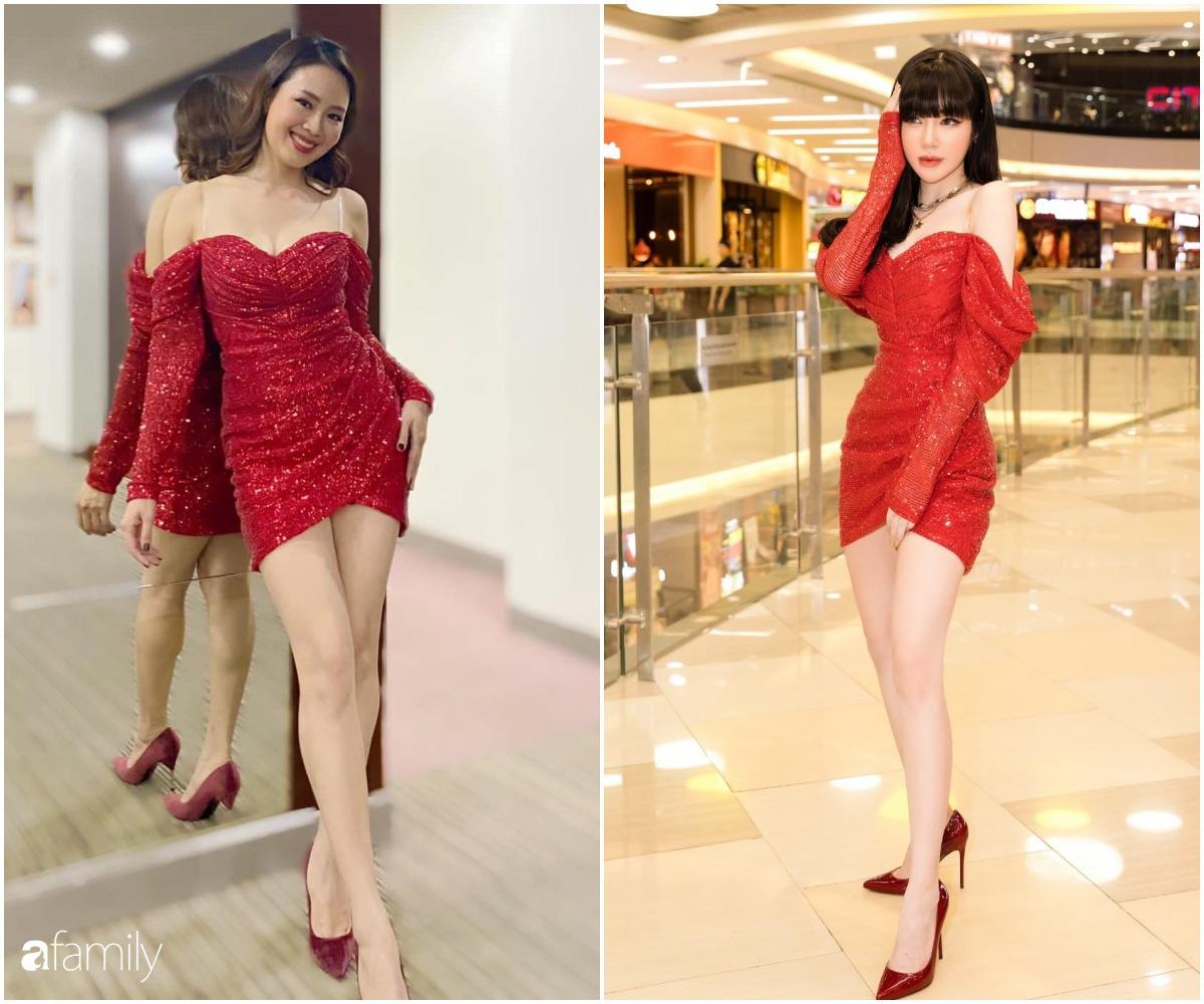 """Khó nhận ra Hồng Diễm khi lên đồ sexy đi """"đu đưa"""", chẳng ngại đọ dáng nóng bỏng với eo 55cm của Elly Trần - Ảnh 6."""