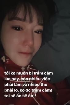 """Sốc: Giữa ồn ào nghi bị chồng """"cắm sừng"""", Elly Trần nằm khóc trong bóng tối, tâm lý bất ổn và sợ bị trầm cảm - Ảnh 3."""
