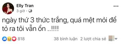 """Elly Trần gây hoang mang khi chia sẻ ẩn ý chuyện """"chồng ngoại tình dù đang có vợ đẹp con xinh"""" - Ảnh 2."""