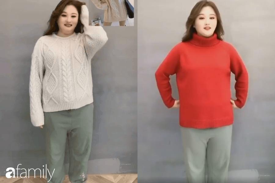 Chẳng ngại nhược điểm, cô nàng này đã thử 2 dáng áo và tìm được kiểu dành cho dáng người béo từ đầu tới chân  - Ảnh 2.