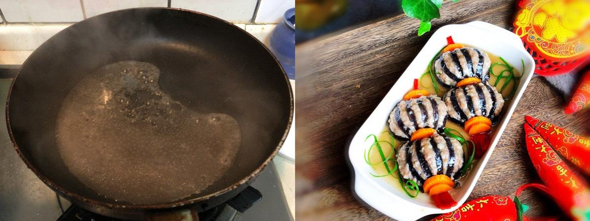 Món cà tím kẹp thịt hấp mềm ngọt đẹp mắt - Ảnh 4.