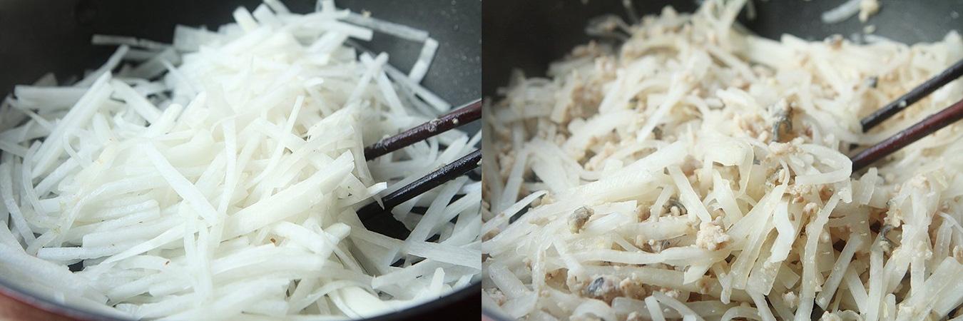Củ cải xào cá món ngon cực kỳ dễ làm - Ảnh 3.