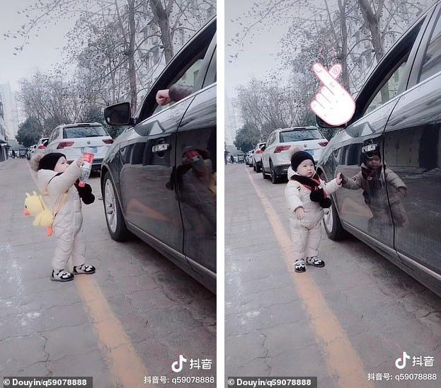 Tưởng người lái xe làm rơi chai nước, bé trai 1 tuổi lon ton chạy lại nhặt và đem trả lại khiến người tài xế xấu hổ nói không nên lời - Ảnh 2.