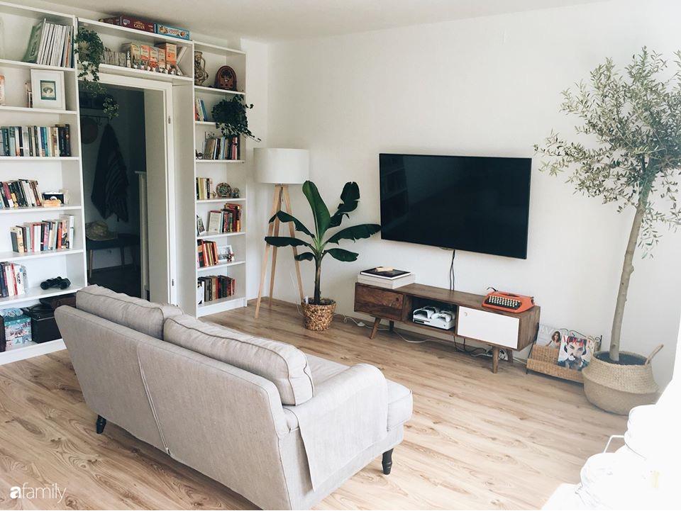 Tự tay cải tạo từng góc nhỏ, căn hộ của vợ chồng trẻ biến thành tổ ấm màu xanh đẹp như trong tạp chí - Ảnh 5.