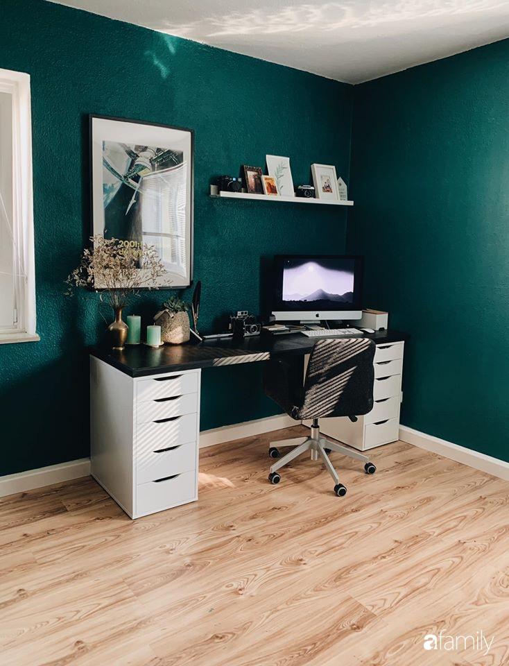 Tự tay cải tạo từng góc nhỏ, căn hộ của vợ chồng trẻ biến thành tổ ấm màu xanh đẹp như trong tạp chí - Ảnh 11.
