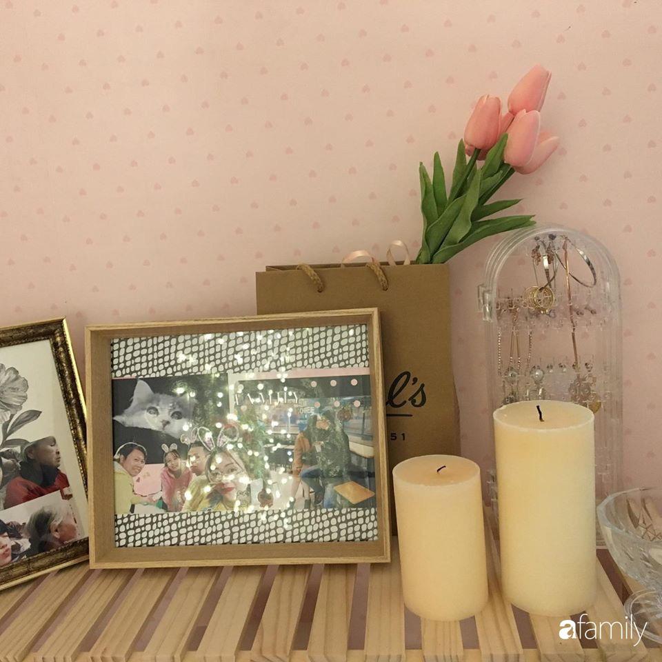 Từ căn phòng cũ kỹ, cô gái trẻ tự sửa sang, cải tạo thành căn phòng đẹp lung linh không góc chết - Ảnh 10.