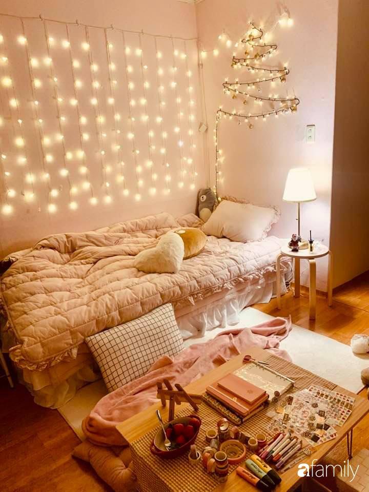 Từ căn phòng cũ kỹ, cô gái trẻ tự sửa sang, cải tạo thành căn phòng đẹp lung linh không góc chết - Ảnh 8.