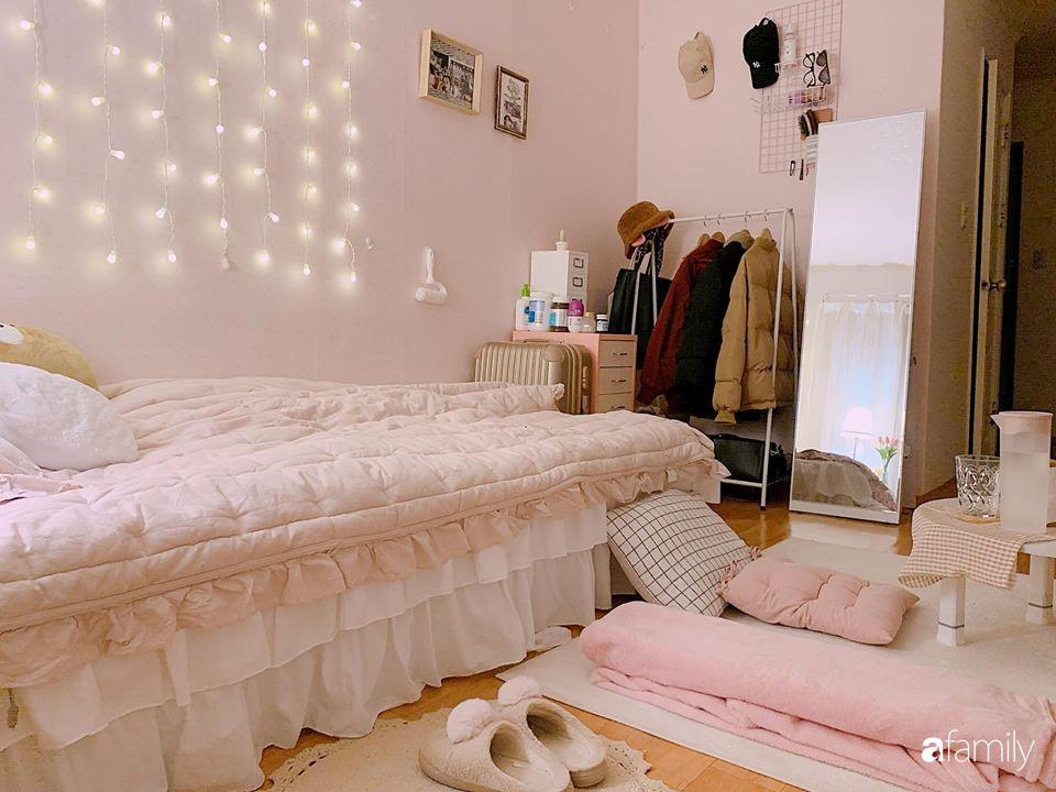 Từ căn phòng cũ kỹ, cô gái trẻ tự sửa sang, cải tạo thành căn phòng đẹp lung linh không góc chết - Ảnh 4.