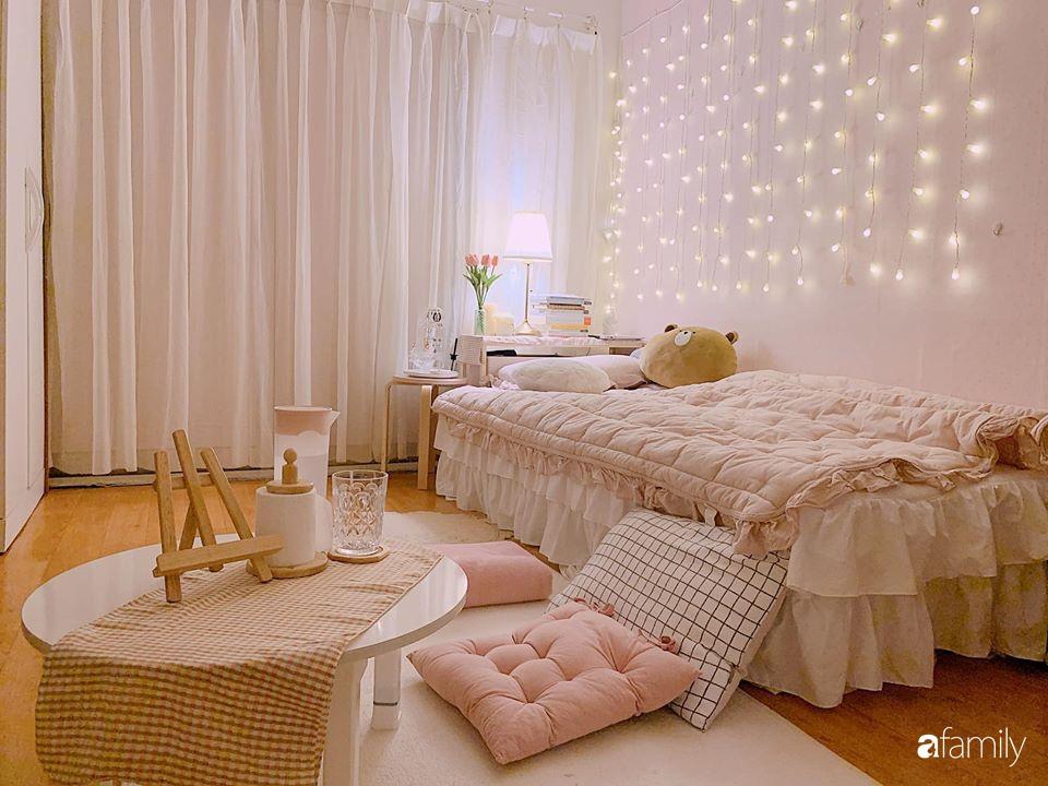 Từ căn phòng cũ kỹ, cô gái trẻ tự sửa sang, cải tạo thành căn phòng đẹp lung linh không góc chết - Ảnh 3.