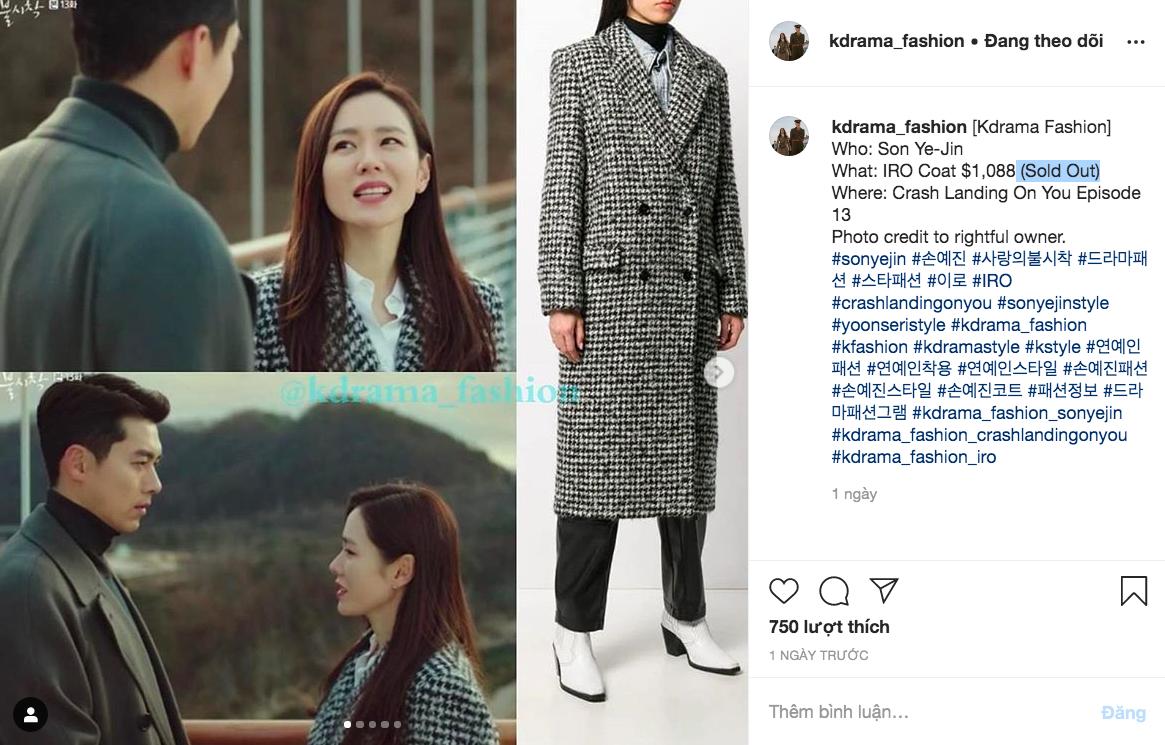 """Chiếc áo khoác 35 triệu mà Son Ye Jin mặc cháy hàng ngay khi tập 13 """"Hạ cánh nơi anh"""" được phát sóng - Ảnh 3."""