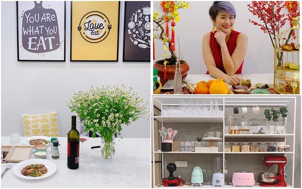 """Căn bếp 15m² của bà mẹ Sài Thành đẹp như tạp chí, trưng bày dụng cụ làm bếp không khác gì """"walk-in closet"""" của các cô gái thời thượng"""