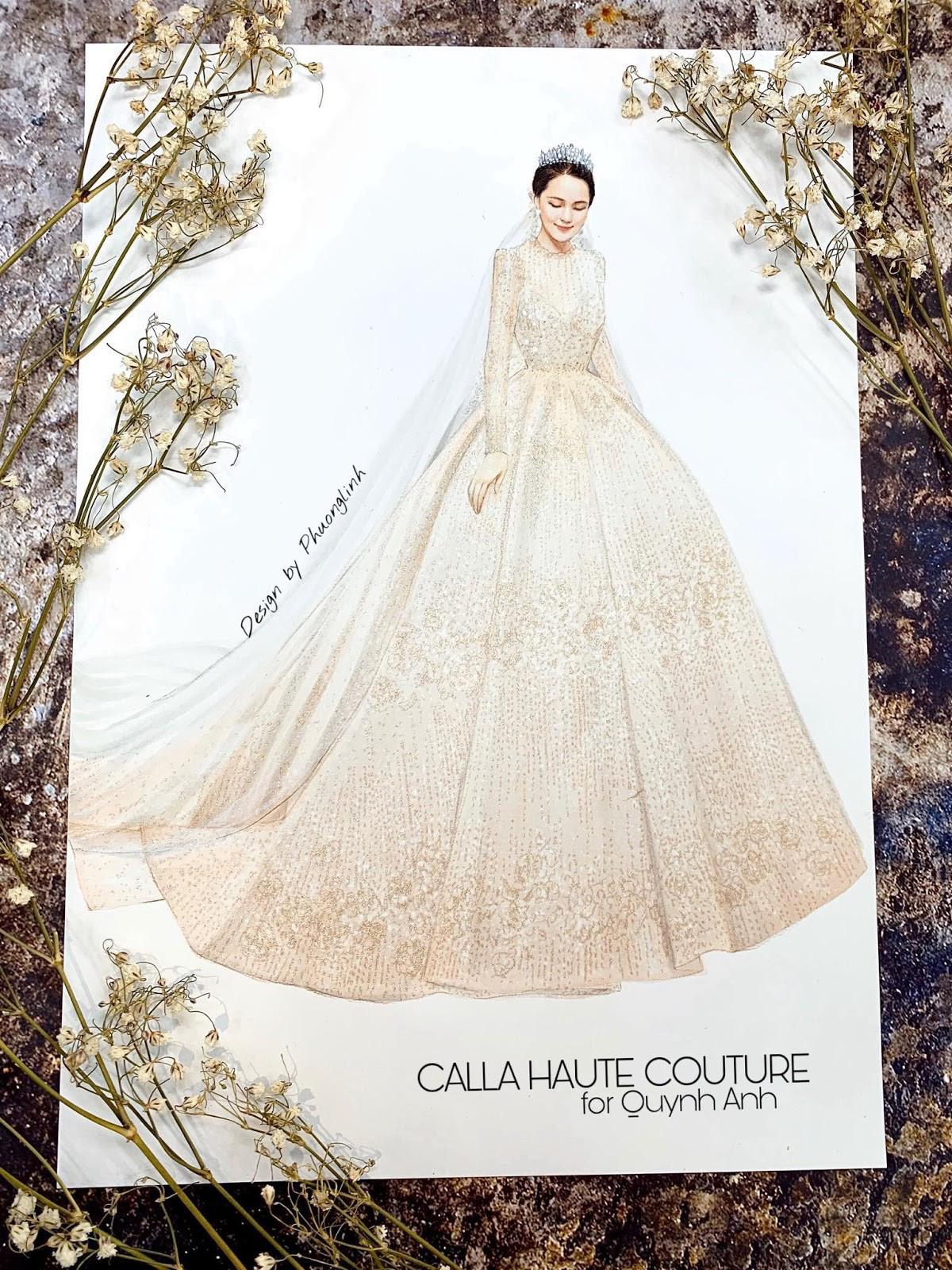 """NTK Phương Linh gây bất ngờ cho """"công chúa béo"""" của Duy Mạnh khi váy cưới đẹp hơn cả bản thiết kế - Ảnh 1."""