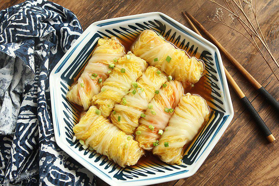 Rau cải cuộn nấm xốt dầu hào - Ảnh 5.