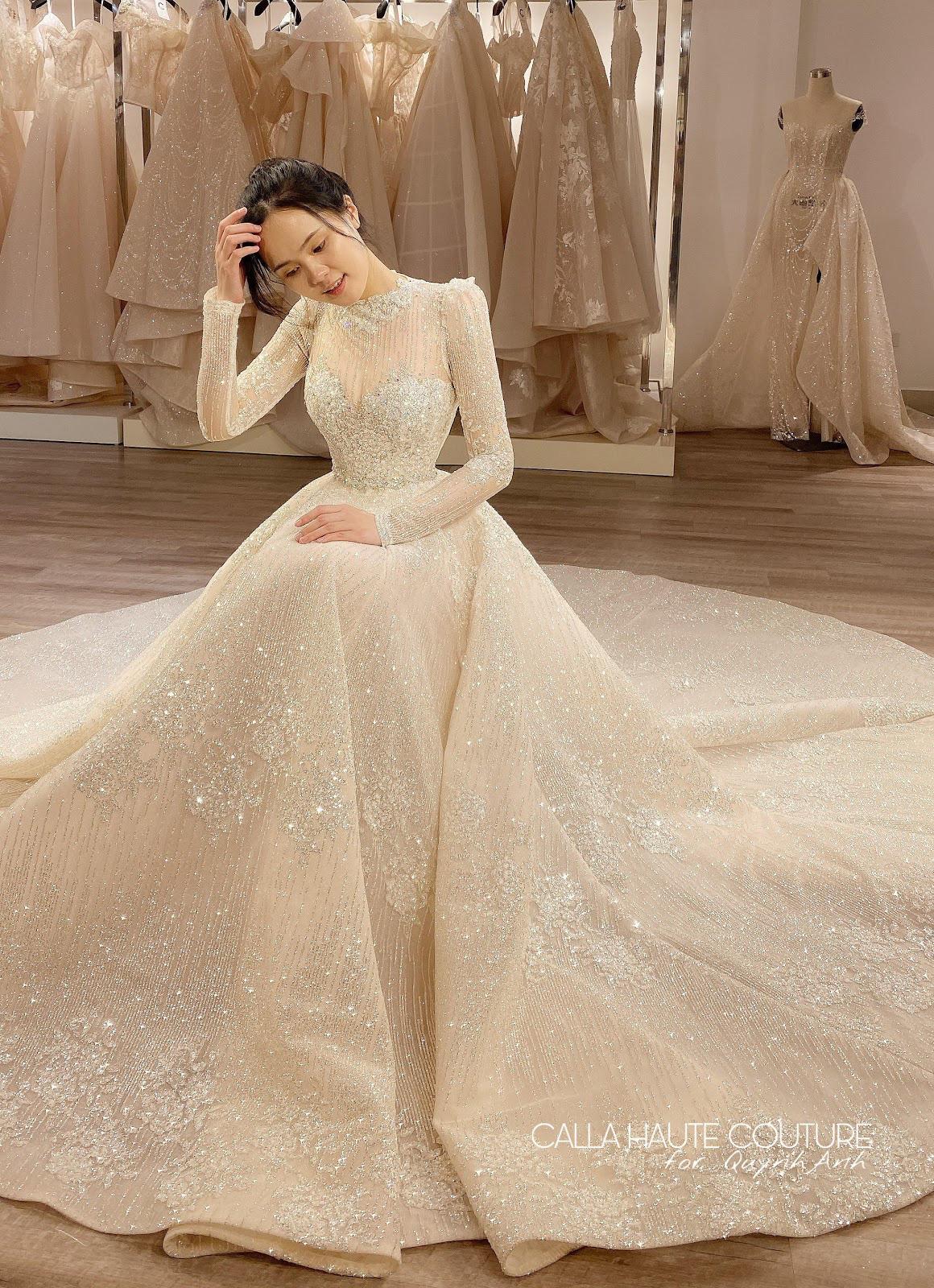 """NTK Phương Linh gây bất ngờ cho """"công chúa béo"""" của Duy Mạnh khi váy cưới đẹp hơn cả bản thiết kế - Ảnh 4."""