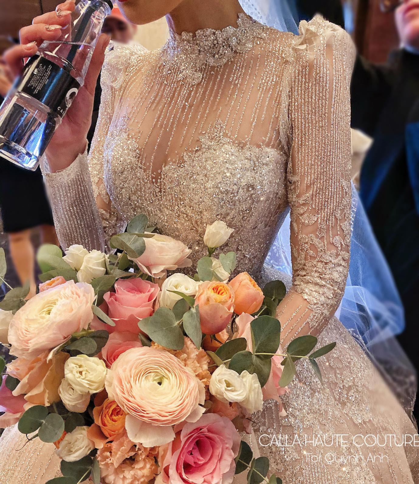 """NTK Phương Linh gây bất ngờ cho """"công chúa béo"""" của Duy Mạnh khi váy cưới đẹp hơn cả bản thiết kế - Ảnh 5."""