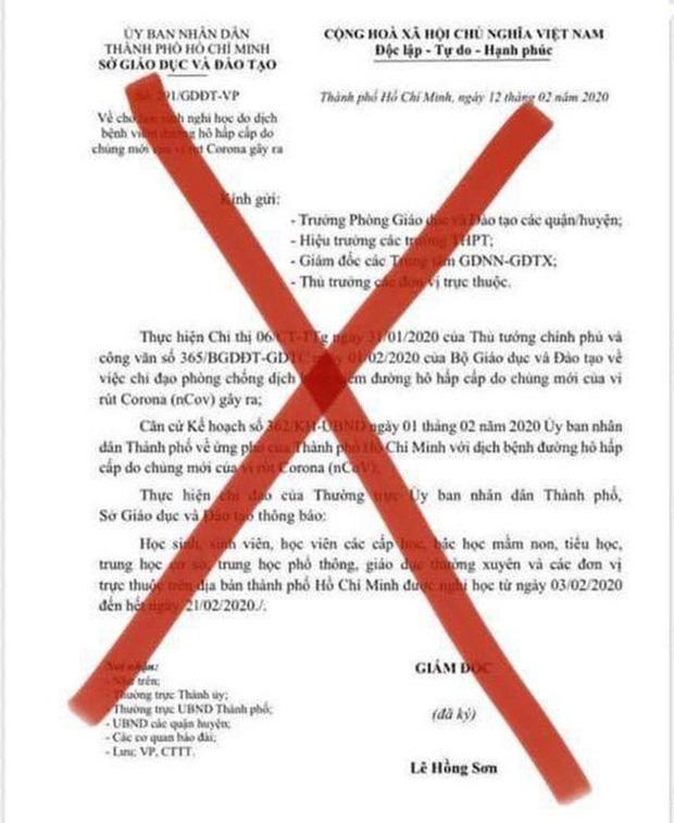 Văn bản thông báo nghỉ học đến 21/2 là giả mạo, Sở GD-ĐT TP.HCM vẫn đang chờ ý kiến chỉ đạo cho học sinh đi học lại - Ảnh 2.