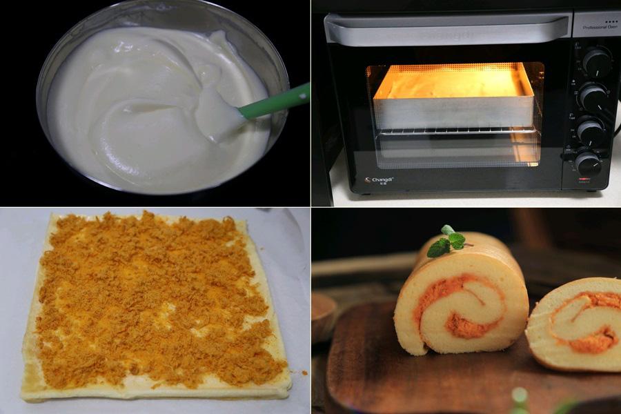 Công thức bánh bông lan cuộn chà bông mềm ngon xuất sắc, bạn không thể bỏ qua! - Ảnh 3.