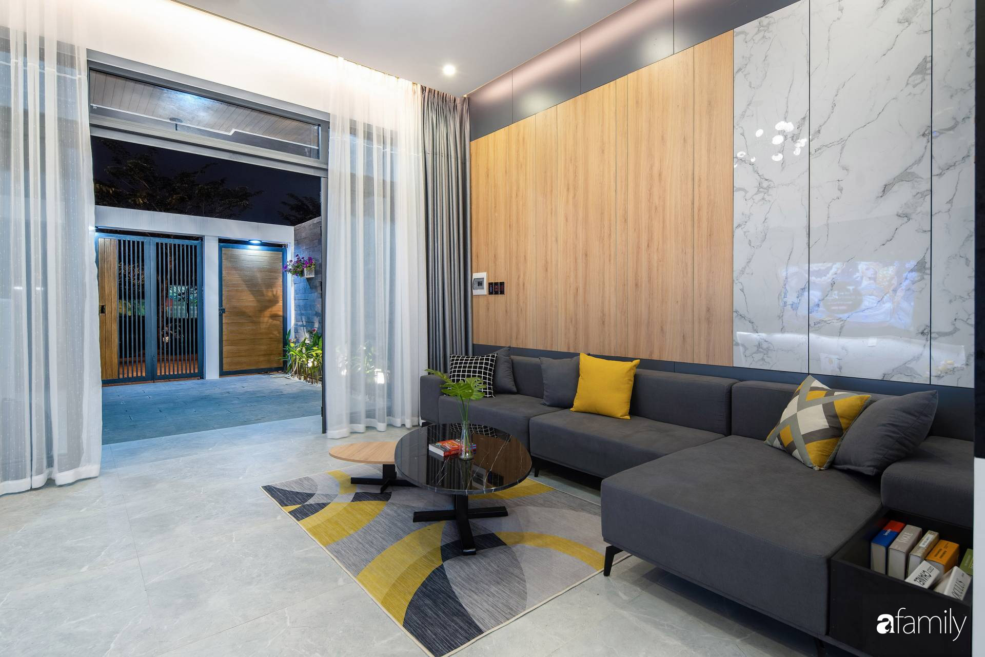Ngôi nhà 100m2 thiết kế thông minh, tiện lợi dành cho gia đình 3 thế hệ ở Đà Nẵng - Ảnh 4.