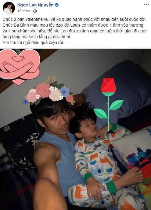 Chia sẻ khoảnh khắc cha và con trai nhân dịp Valentine, Ngọc Lan hy vọng Thanh Bình sớm tìm được tình yêu mới - Ảnh 2.