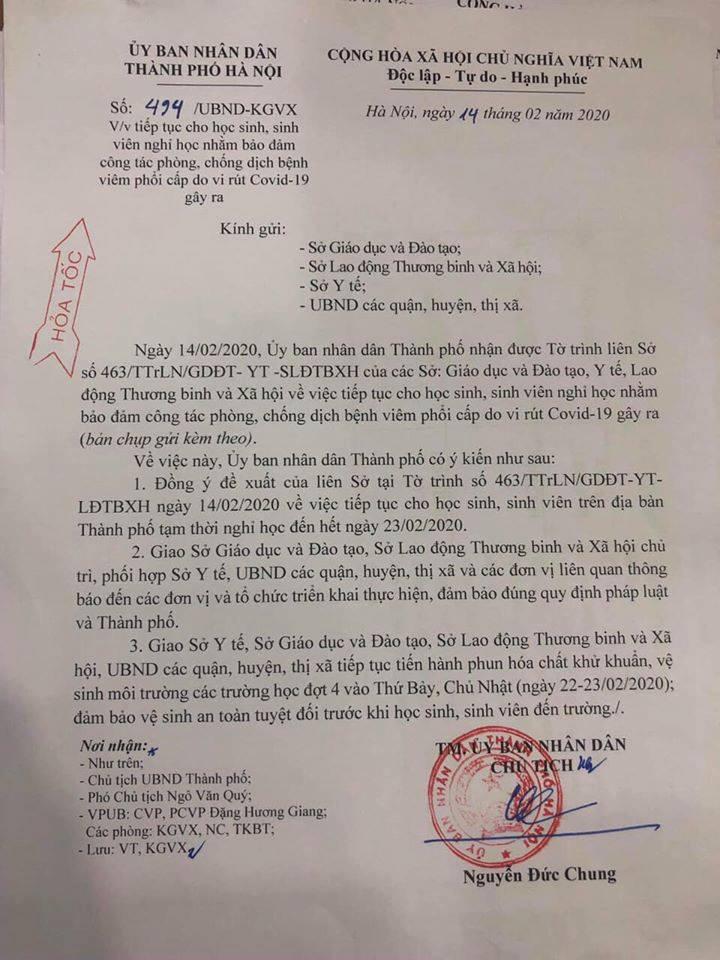 MỚI: Học sinh Hà Nội tiếp tục được nghỉ học đợt 3, đến ngày 23/2 - Ảnh 1.
