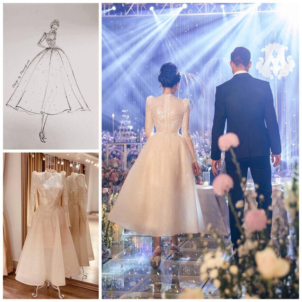 Váy cưới của Quỳnh Anh: Không phải vài trăm triệu mà những 1 tỉ đồng, nhưng trong mắt NTK bộ váy này là vô giá - Ảnh 8.