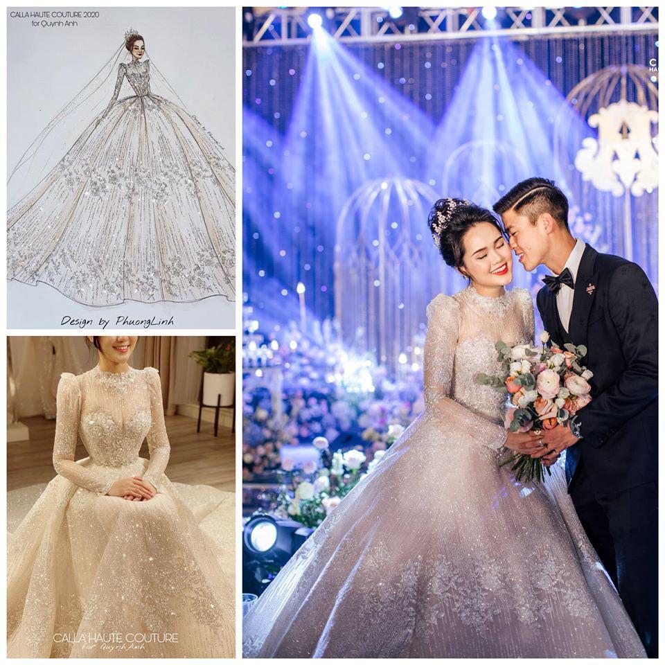 Váy cưới của Quỳnh Anh: Không phải vài trăm triệu mà những 1 tỉ đồng, nhưng trong mắt NTK bộ váy này là vô giá - Ảnh 7.