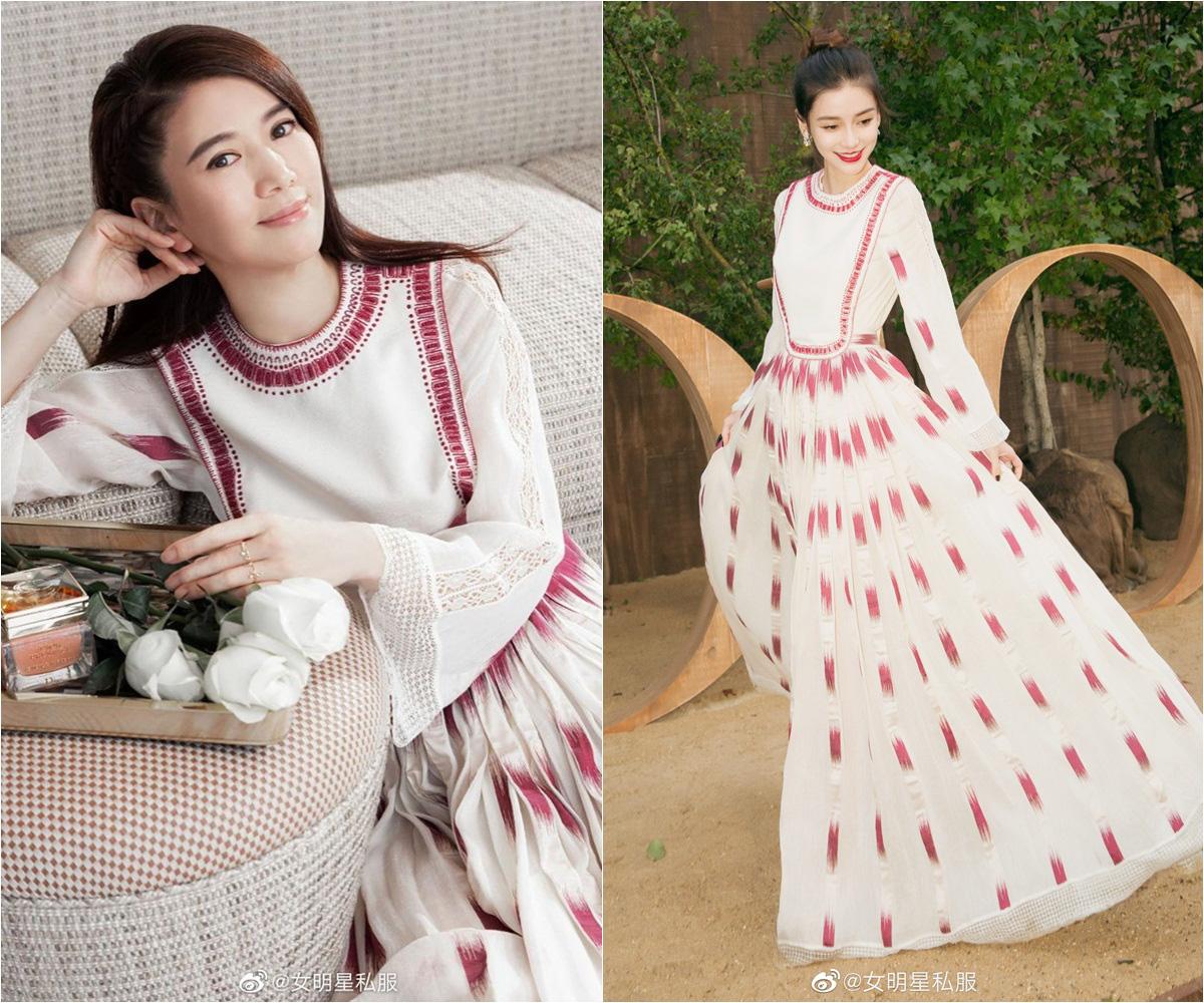 """Angela Baby cũng phải """"xin thua"""" Hoa hậu Hong Kong Viên Vịnh Nghi khi lệch gần 20 tuổi mà vẫn đẹp như tiên tử dù diện váy kín bưng - Ảnh 5."""